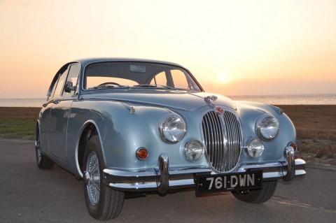 blue-jaguar-sunset